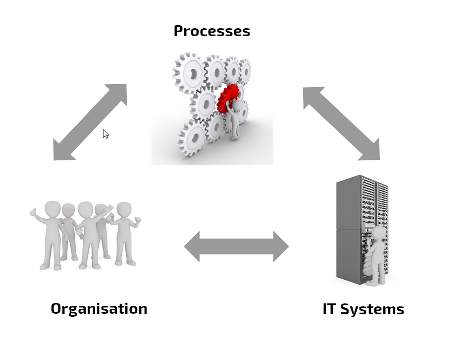 Organization, processes and IT systems during a PLM introduction
